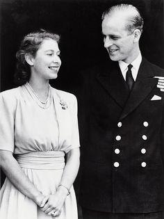 Engagement of Princess Elizabeth and Lt Philip Mountbatten, 1947 by The British Monarchy, via Flickr