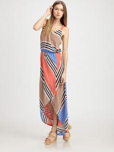 Addison Blue Striped Tank Dress