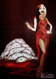 Cruella DeVil as Lady Gaga Disney Halloween: Cruella Zombie Disney, Disney Halloween, Princesas Disney Zombie, Disney Horror, Evil Disney, Disney Fan Art, Disney Style, Disney Love, Halloween Costumes