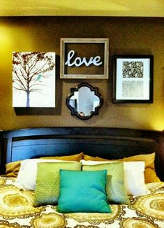 Love the pictures on the wall!!! This is a very good bedroom idea