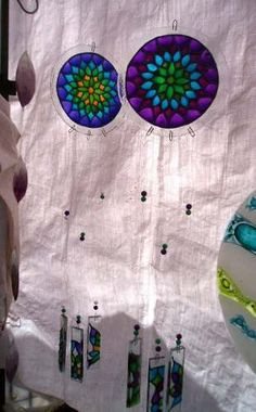 Llamador De Angeles Mandala - Mobiles, Dreams Catcher, Fused Glass, Stained Glass, Recycled Cds, Cd Crafts, Suncatchers, Diy Art, Wind Chimes