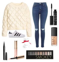 """""""Untitled #5"""" by kartseva-ana on Polyvore featuring H&M, adidas Originals, Marc Jacobs, By Terry, Forever 21, NARS Cosmetics and Victoria's Secret"""