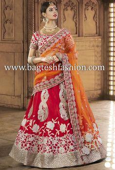 Beauteous Red Silk Lehenga Choli
