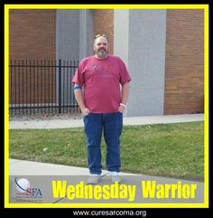 """""""Mentally, it is very exhausting, with feelings of giving up. I have made it this far, I will not quit. I am a survivor. Early detection saved me. I am now 16+ months in remission."""" - Robert, Sarcoma Foundation of America's Wednesday Warrior  http://www.curesarcoma.org/wednesday-warrior-robert/  #sarcoma #inspiration #WednesdayWarrior #CureSarcoma #cancer #Myxiod #Chondrosarcoma"""