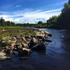 Kupuliskoski  Ihana kuvausilma ja taivas  #speciaali #kupuliskoski #pirttikoski #nature #river #luontokuva