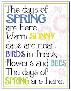 Printable art for Spring