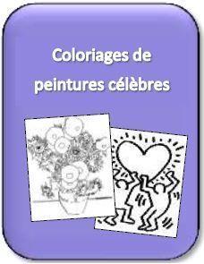 Lien vers les coloriages de peintures célèbres