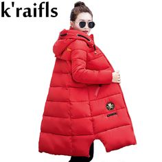 Cheap long coat female, Buy Quality women wadded jacket directly from China down parka women Suppliers: k'raifls New Winter Jacket Women Thick Parkas Women's Wadded Jacket Outerwear Down Cotton-padded Jacket Warm Long Coat Female Winter Jackets Women, Coats For Women, Clothes For Women, Down Parka Women, Womens Parka, Cotton Pads, Padded Jacket, Latest Fashion For Women, Outerwear Jackets