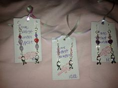 BREAST CANCER AWARENESS earrings pink and by BlueDragonflysStudio, $10.00
