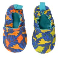 WeeChooze in Roar Weechooze Baby Booties: Designed to delight tiny toes and engage little inquisitive minds, weechooze features CHOOZE's signature coordinating prints, stimulating colors, super soft microfiber lining, elasticized ankles, and non-slip soles. Available in 3 sizes: 0-6 months, 6-9 months, and 9-12 months.