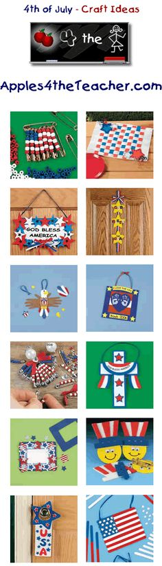 Fun 4th of July crafts for kids - Independence Day craft ideas for children.   http://www.apples4theteacher.com/holidays/fourth-of-july/kids-crafts/