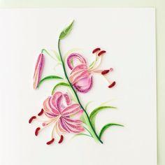 Violet fleur de Lys BL900 6 x 6 par QuillingCard sur Etsy