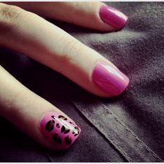 Nail art, cheetah print