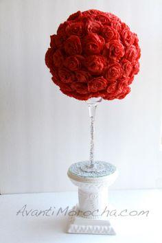 Paper Roses Topiary