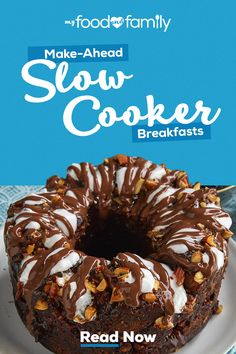 Tackle busy mornings with slow cooker breakfast recipes from My Food and Family. Weve got ideas for breakfast dishes both savory and sweet (yes even cake). Tap the Pin to explore. Crock Pot Desserts, Crockpot Dishes, Crock Pot Slow Cooker, Crock Pot Cooking, Slow Cooker Recipes, Crockpot Recipes, Cooking Recipes, Campfire Desserts, Slow Cooker Breakfast
