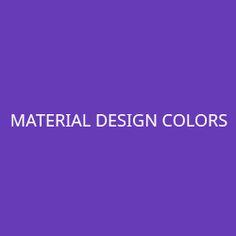 Material Design Colors