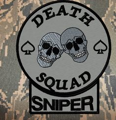 New sniper tab patch with a new shape that fits perfectly around a round custom patch Skull Tattoo Design, Tattoo Designs, Custom Patches, Tactical Patches, Snipers, Morale Patch, Random Thoughts, Airsoft, Troops