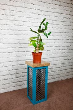Escafell Modern Industrial Plant Stand - Shades of Blue by escafell on Etsy https://www.etsy.com/uk/listing/464232856/escafell-modern-industrial-plant-stand