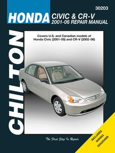 Honda civic 2001 2005 repair service manual banners pinterest fix your car right with a real repair manual fandeluxe Gallery