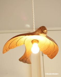 Wood carving bird lamp shade - KIYATA 2012年の新作  その9