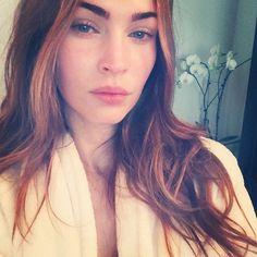 Megan Fox first Instagram no makeup selfie