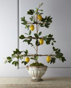 Florence de Dampierre Lemon Espalier Faux Arrangement - Horchow