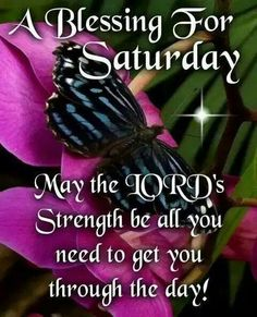 A Blessing  For Saturday!