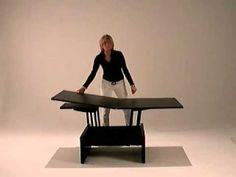 Kubo - Coffee table convert in dining table smart furniture - YouTube