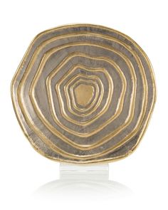 """18"""" x 20.5"""" Gold and Silver Banded Charger - Accessories - Accessories & Botanicals - Our Products"""