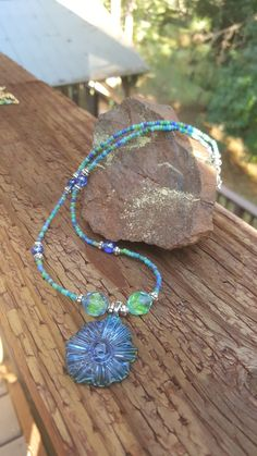 Affordable Jewelry, Seed Beads, Turquoise Necklace, Handmade, Design, Fashion, Moda, Hand Made, La Mode