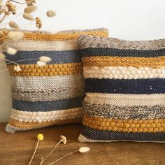 Scandi style woven pillows by wefilgood - sewing, knitting and more - # fabric . : Scandi-style woven cushions by wefilgood – sewing, knitting and more – the Loom Weaving, Tapestry Weaving, Hand Weaving, Weaving Projects, Knitting Projects, Scandi Style, Decorative Pillow Covers, Handmade Rugs, Knit Crochet