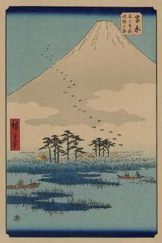Ando Hiroshige - Yoshiwara - Fine Art Print