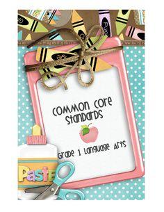 Common Core Standards_1st grade language arts