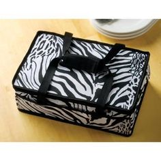 Zebra Casserole Lugger- Lug your casserole in style :)