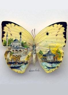HASAN KALE is a microartist from Istanbul, Turkey, who creates art on an array of surprising objects, such as fruit seeds, match sticks, pills, coins, and even insect wings / http://www.hasankale.com/
