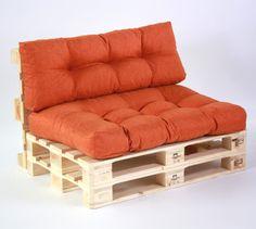 SuperSack Palettenkissen Lounge-Set Savana - Gesteppt - Orange