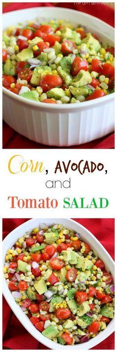 Corn Avocado and Tomato Salad | The Girl Who Ate Everything