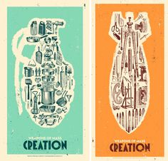 Weapons of Mass Creation by Justin Kamerer aka Angryblue #graphicDesign