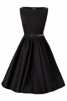 Lindy Bop 1950s Audrey Hepburn style swing party rockabilly evening black vintage dress