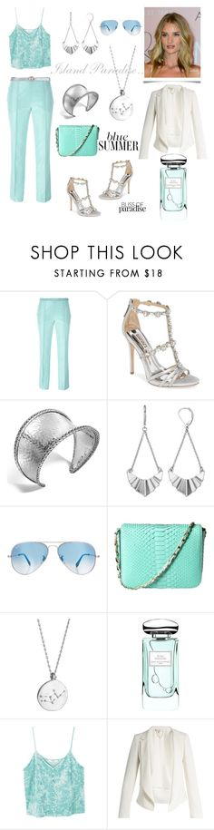 """""""Holidays. Dinner with best friends in Barcelona"""" by martika-1976 ❤ liked on Polyvore featuring Etro, Badgley Mischka, John Hardy, Simply Vera, Ray-Ban, Cashhimi, Chupi, By Terry, MANGO and Vanessa Bruno"""