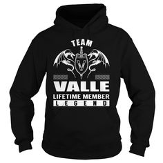 Team VALLE Lifetime Member Legend - Last Name, Surname T-Shirt
