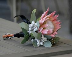 The bouquet may go in addition to the wedding general theme, or it might be completely in the box and generate a statement. You can choose how you would like to preserve your wedding bouquet ( and … Bridesmaid Flowers, Bride Bouquets, Bridal Flowers, Floral Bouquets, Protea Wedding, Flower Bouquet Wedding, Floral Wedding, Flower Decorations, Wedding Inspiration