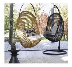 Fauteuil suspendu d co retro et contemporaine fauteuil - Coussin pour fauteuil en rotin ou osier ...