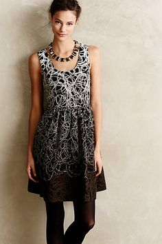 Fading Tracery Dress #anthropologie