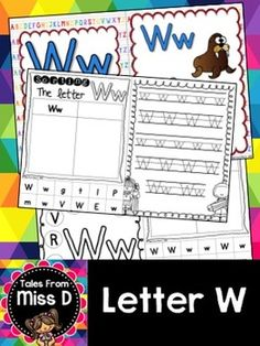 This pack contains no prep/print and go activities for the letter W.  Includes;  1) Posters x 2 2) Letter Hunt 3) Case Sorting 4) Letter Sorting 5) Handwriting 6) Bracelets