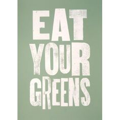 Eat Your Greens Print - from eggcup & blanket UK