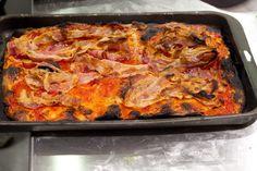 pizza amatriciana di Bonci