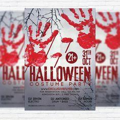 Halloween Costume Party - Premium Flyer Template  http://exclusiveflyer.net/product/halloween-costume-party-premium-flyer-template/