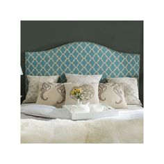 Safavieh Connie Linen Headboard, Blue
