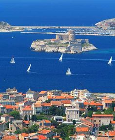 the Chateau d'If off the Marseilles coast